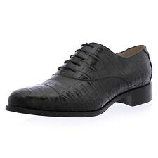 GIORGIO ARMANI Blk Croc Embossed Leather Oxfords XGDI34 US 10 / EU 40 $8,125 NEW