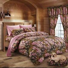 Western camouflage bed set 7 piece full/queen like mossy oak n real tree
