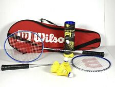 Wilson Ti Pro Badminton Racket Set Carlton Shuttlecocks Carry Bag Sports Active