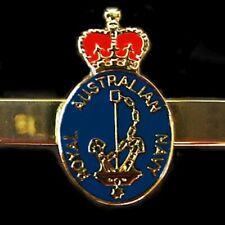 RAN ROYAL AUSTRALIAN NAVY TIE BAR CLIP ENAMELED & GOLD PLATED                 01