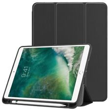 """TUFF LUV Cover & Stand With Tablet Shell & Stylus Holder for iPad 9.7"""" 2018 -Blk"""