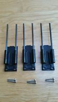 3 x Delkim carbon snag ears fit all complete EV Delkim Plus & TXi bite alarms...