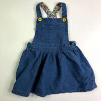 Mini Boden Girls Blue Distressed Chambray Jumper Dress 3 4 Years