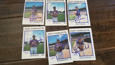 1987 PROCARDS PORT CHARLOTTE RANGERS SGNED AUTO CARD LOT OF 6 JOHN BARFIELD