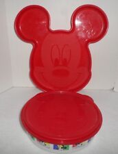 Tupperware Baby Disney Mickey Mouse Food Plate and Bowl