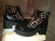 Black patent boots Biker Gothic Rock