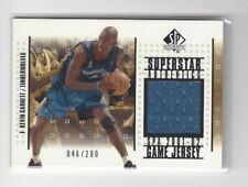 Kevin Garnett 2001-02 SP Authentic Superstar Authentics Game-Worn Jersey card
