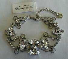 Art Wear Dimitriadis Designer Bracelet*White Swarovski Elements*Crystals