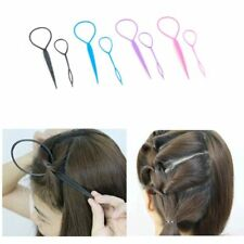 Hair Topsy Tail Clip Braid Maker Ponytail Styling Tool Plastic Magic Set 2pcs
