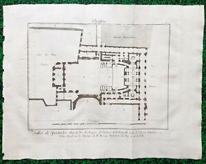 XVIII ème - Paris Ier - Rare Plan n° 1 Salle de l'Opéra Palais Royal 57x44 1776