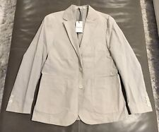 NWT Hardy Amies London Brinsley Fit Bone Lightweight 100% Cotton Blazer 38S $550