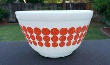 """Vintage Orange Dot Pyrex Bowl # 401 1½ PT. 5¾"""" Across X 3¼ Tall"""