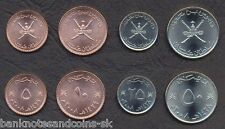 OMAN COMPLETE FULL COIN SET 5+10+25+50 Baisa 2008 UNC UNCIRCULATED LOT of 4