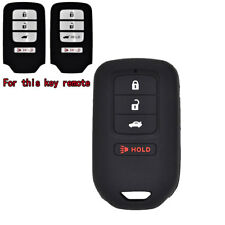 For Honda Accord Civic CRV CRZ HRV Pilot 4 Button Silicone Key Fob Cover Case