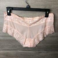 Women/'s Camio Mio Mesh  Lace Boyshort Panty