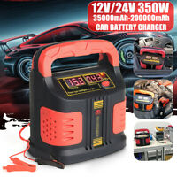 110V 350W 12/24V Auto Car Battery Charger Maintainer Smart Battery Repair US