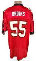 NFL TAMPA BAY BUCCANEERS AMERICAN FOOTBALL SHIRT #55 BROOKS REEBOK SIZE XL ADULT