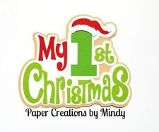 CRAFTECAFE MINDY FIRST CHRISTMAS BABY premade paper piecing TITLE scrapbook