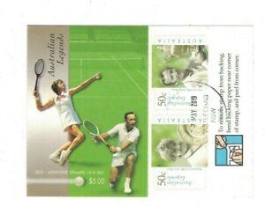 MAD768) Australia 2003  Aust.Legends - Tennis Booklet CTO