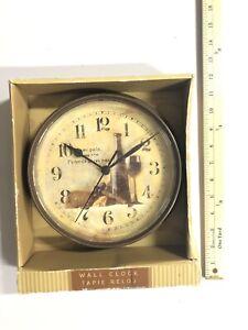 "Chaney Wall Clock Tapie Reloj  Acu-Rite Size 8.5"" Power 1x AA (not Included) NIB"