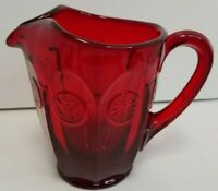 Fostoria Ruby Red Coin Dot Glass 32 Oz. Pitcher