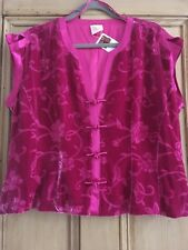 Country Casuals Gorgeous Silk Devore Deep Pink luxuriously Lined size 18 top.