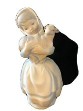"""Nao By Lladro """"Girl Holding Lamb"""" Figurine (Matte)"""