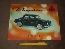 RENAULT Dauphine - (cca 1958) CZE Werbung/advertisement, A4 /21x27 cm/ RAR!