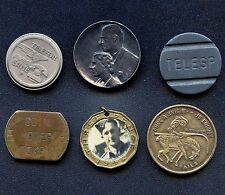 Lot With 4 Various Tokens 1944 3 Pence Pendand & 1951 Royal Visit Pin