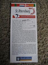 Royal Caribbean International, St. Petersburg (Russia) Map / Brochure, 1994