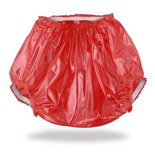 Acmedical VINYL PVC Plastique Adulte Bébé AB ABDL Diaper Pants culottes Couches L