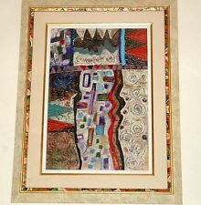 PATRICIA A. BEATTY - MINT - Modern ART - VERY LARGE ORIGINAL  Oil On Paper GOLD