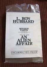 L Ron Hubbard Mission Earth Vol4 Uncorrected Proof An Alien Affair Very Rare