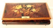 BEAUTIFUL INLAID FLORAL MUSIC BOX LARAS THEME