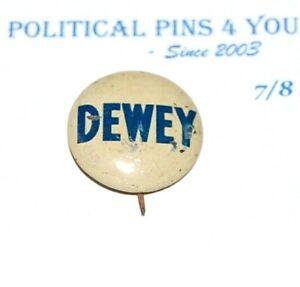 1944 THOMAS E. DEWEY campaign pin pinback button political presidential election