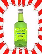 Shaved Ice Syrup - Lemon Lime Flavor In Long Neck Quart Size #1Snoball