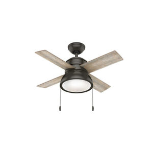 Hunter Fan Company Loki 36-Inch Home Ceiling Fan with LED Light, Noble Bronze