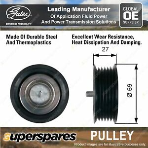 Gates DriveAlign Alternator Idler Pulley for Mercedes Benz Vito Mixto W639 10-18