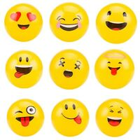 10x Inflatable Emoji Beach Balls Soft Ball Adult Water Play Pool Party Kids Toys