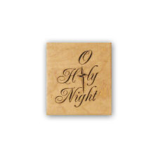 O Holy Night mounted rubber stamp, religious, Christian Christmas CMS 7