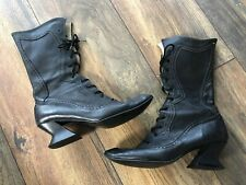 Rare Vintage 80s Fluevog Victorian Swordfish Lace Up Gothic Granny Boots Witchy