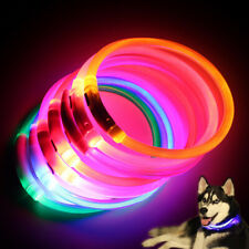 LED Dog Collar USB Rechargeable Flashing Night Dog Collars Pet Dog Safety Collar