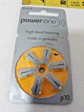 Hearing Aid Battery Size 10 P10 PR70 POWERONE Zinc ~ Ships FREE