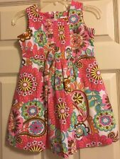 Hanna Andersson Floral Dress Girls Size 110 5-6