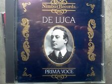 GIUSEPPE DE LUCA PRIMA VOCE  - CD COME NUOVO (MINT)