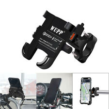 QC3.0 12V Motorcycle Bike Handlebar Mobile Phone Holder Mount USB Charger Black