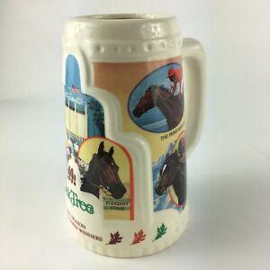 Vintage 1992 Oak Tree Santa Anita Beer Mug ~ 1991 Season Major Stakes Winners