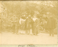France, Vosges, Bussang, Groupe d'artistes, Sidi-Brahim 1897 vintage citrat