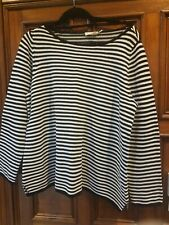 New Eileen Fisher Woman $228 Organic Cotton Chenille Stripe Top 1X NWT! Sweater