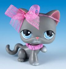 Littlest Pet Shop Cat Shorthair #74 Gray With Blue Eyes